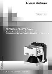 ROTOSCAN RS4/PROFIsafe - Leuze electronic