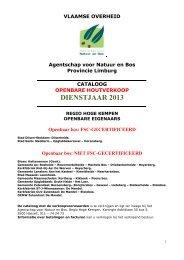 Openbaar bos: FSC-GECERTIFICEERD - Agentschap voor Natuur ...