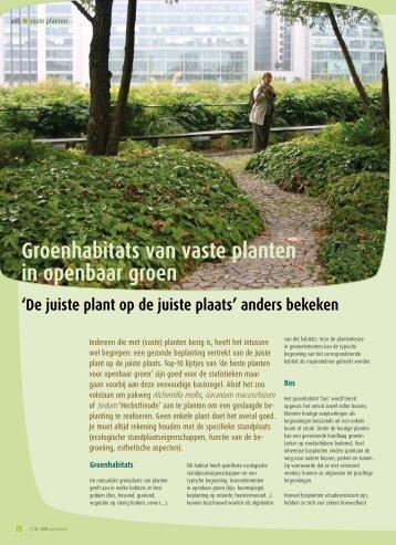 Artikel 3: september 2009 (pdf-document) - Agentschap voor Natuur ...