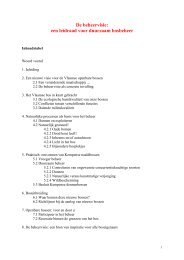 De basisprincipes van de beheervisie worden samengevat in de ...