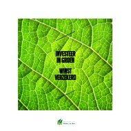 Investeer in groen, winst verzekerd - Agentschap voor Natuur en Bos