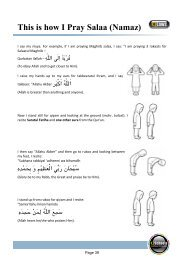 Correct recitation and actions of salaa - QFatima