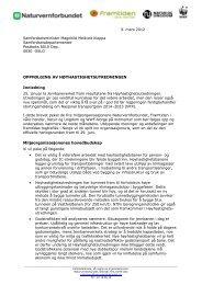 Oppfølging av høyhastighetsutredningen - Norges Naturvernforbund
