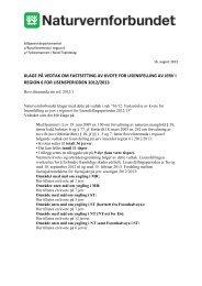 Klage på vedtak om lisensfelling av jerv