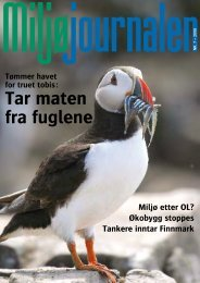 Miljøjournalen 7-2008 - Norges Naturvernforbund