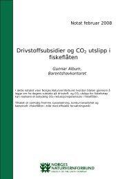 Notat om drivstoffsubsidier og CO2 utslipp i fiskeflåten - Norges ...