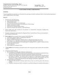 Nasogastric/Enteric Tubes/Feedings - LSU Health Shreveport