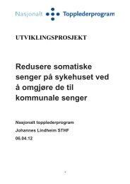 Redusere somatiske senger ved omgjøring til ... - Helse Midt-Norge
