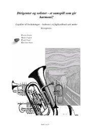 Dirigenter og solister - et samspill som gir ... - Helse Midt-Norge