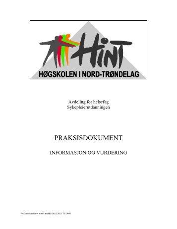 PRAKSISDOKUMENT - Høgskolen i Nord-Trøndelag