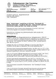 Fylkesmannen i Sør-Trøndelag - Riksantikvaren