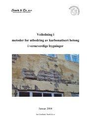 Veiledning i metoder for utbedring av karbonatisert betong i ...