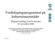 Retningsvalg for kommune - Riksantikvaren