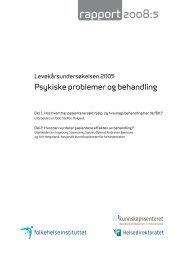 rapport 2008:5 - Nasjonalt folkehelseinstitutt