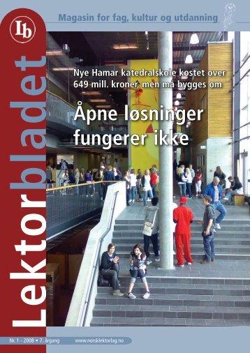 Lektorbladet nr 1 - Norsk Lektorlag