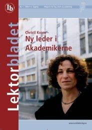 Lektorbladet 1 2003 - Norsk Lektorlag