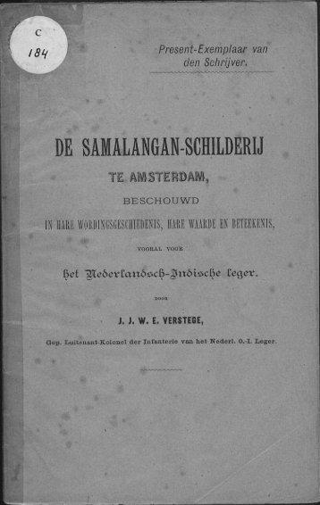 DE SAMALANGAN-SCHILDERIJ - Acehbooks.org
