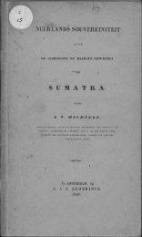 NËÊRLANDS SOUVEREIiMTEIT S U M A T R A . - Acehbooks.org