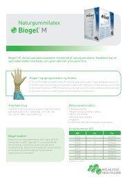 Produktblad - Biogel® M - Mölnlycke Health Care