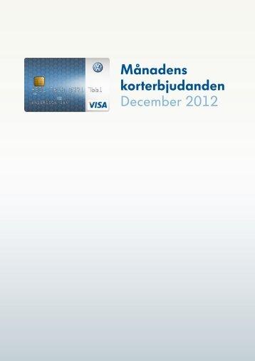 Månadens korterbjudanden December 2012