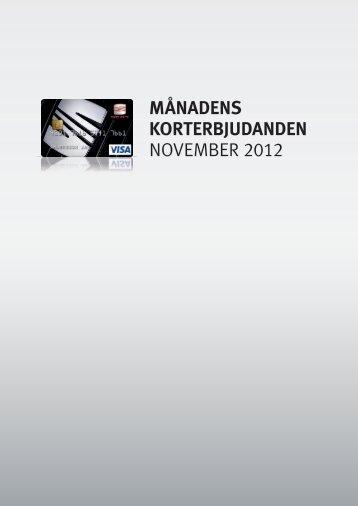 MÅNADENS KORTERBJUDANDEN NOVEMBER 2012 - Atteviks