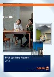 Retail Luminaire Program 2012 - Osram
