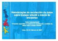Metodologías de recolección de datos sobre trabajo infantil a través ...