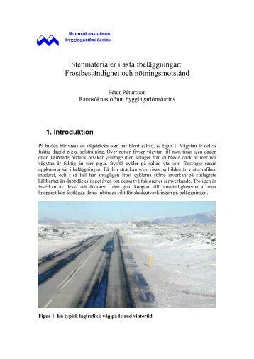 Stenmaterialer i asfaltbeläggningar