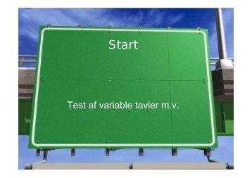 Test af variable tavler m.v.