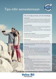 Tips inför semesterresan - Volvo Bil