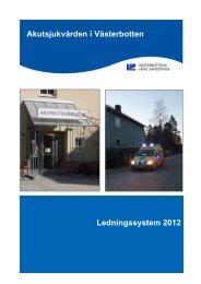 Ledningssystem 2012 - Västerbottens läns landsting