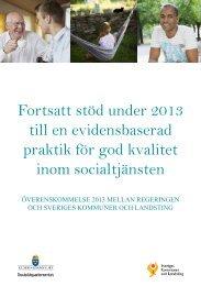 Fortsatt stöd under 2013 till en evidensbaserad praktik för god ...
