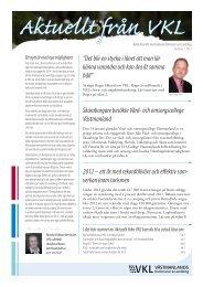 Aktuellt från VKL nr 1 2013 - Västmanlands Kommuner och Landsting