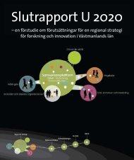 Slutrapport U 2020 - Västmanlands Kommuner och Landsting