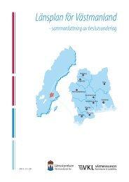 Länsplan för Västmanland - Västmanlands Kommuner och Landsting