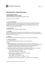 Meningokockinfektion, läkarinformation, reviderad 2005-08-24 (pdf)