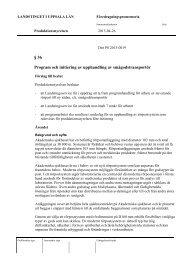 § 36 Program och initiering av upphandling av smågodstransportör