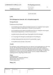 och verksamhetsrapporter - Landstinget i Uppsala län