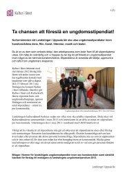Normer och mer information - Landstinget i Uppsala län