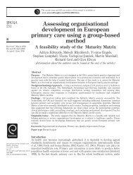 Assessing organisational development in European ... - Emerald