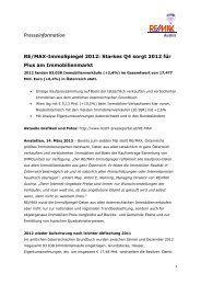 PA RE/MAX-ImmoSpiegel 2012