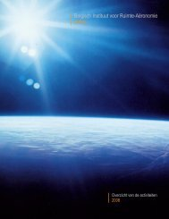 Jaarverslag 2008 - Belgisch Instituut voor Ruimte-Aëronomie