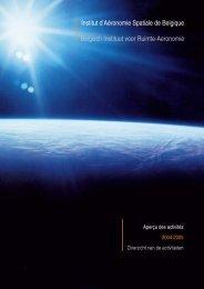 Jaarverslag 2004-2005 - Belgisch Instituut voor Ruimte-Aëronomie