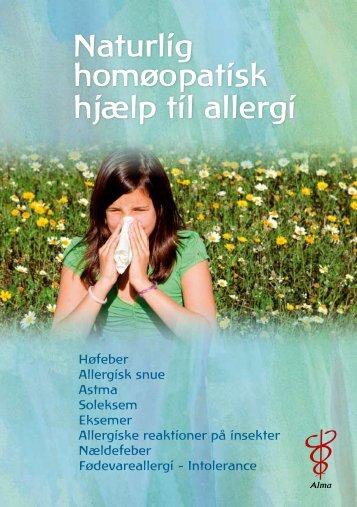 Naturlig homøopatisk hjælp til allergi - Alma