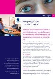 MMCZ wijzer 3, Knelpunten voor chronisch zieken - Hogeschool ...