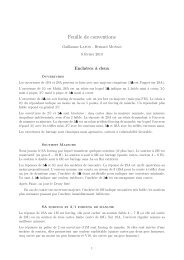 Feuille de conventions - Normalesup.org