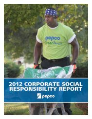 Our 2012 Corporate Social Responsibility Report - Pepco