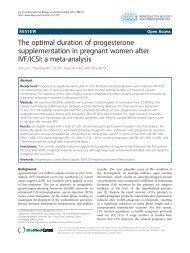 The optimal duration of progesterone supplementation in pregnant ...