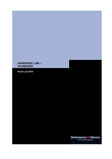 HANDBOEK LSM – VN-SERVER - SimonsVoss technologies