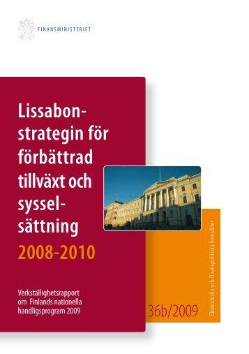 Lissabonstrategin för förbättrad tillväxt och sysselsättning 2008 ...